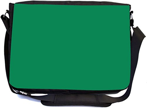 Rikki Knight Deep Emerald Green Color Fall Winter Design Combo Multifunction Messenger Laptop Bag - with Padded Insert for School or Work - Includes Wristlet & Mirror from Rikki Knight