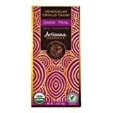 Artisana Organic Venezuelan Criollo Cacao 75 Percent Dark Swiss Chocolate Bar, 1.8 Ounce -- 14 per case.