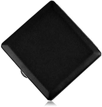 FHSY シガレットボックス10スティックブラックグロッシーレザー耐圧防湿タバコケース、喫煙者に理想的なギフト、ブラウン (Color : Black)