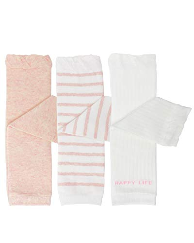 - Bowbear 3 Pair Baby and Toddler Leg Warmers, Happy Legs Pink