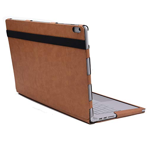 Surface Book Laptop Detachable Case, Detachable Protective Flip Case Cover for 13.5 inch Microsoft Surface Book 2 -  Most Will, XZ025WMQ-Brown