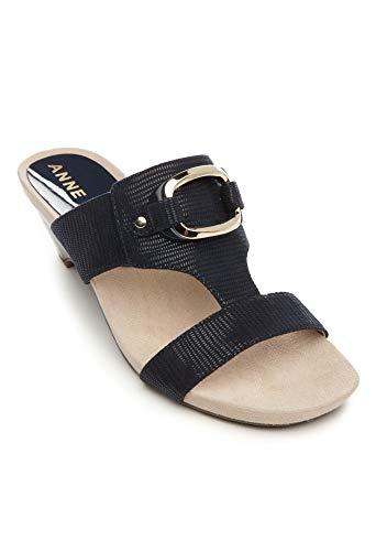 - Anne Klein Women's Teela Wedge Sandal, Navy, 8M US