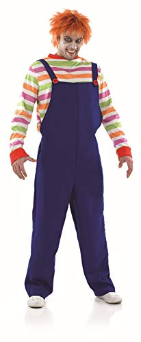 Chucky The Doll Halloween Costume (fun shack Mens Evil Horror Movie Doll Costume Adults Scary Film Character Outfit -)