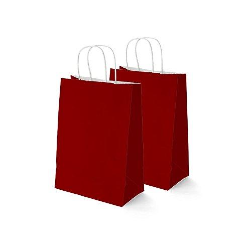 SEIZA Bolsa Papel Roja 37 x 27 CM (50 Unidades): Amazon.es