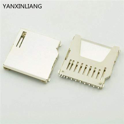 Davitu 20PCS New SD Long Body Memory Card Socket Connector Plug Adapter Deck