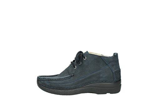 Blå 11800 Zapatos Snøre Rollo 06200 Comodidad Moc Wolky Nubuck xFq0AZHn