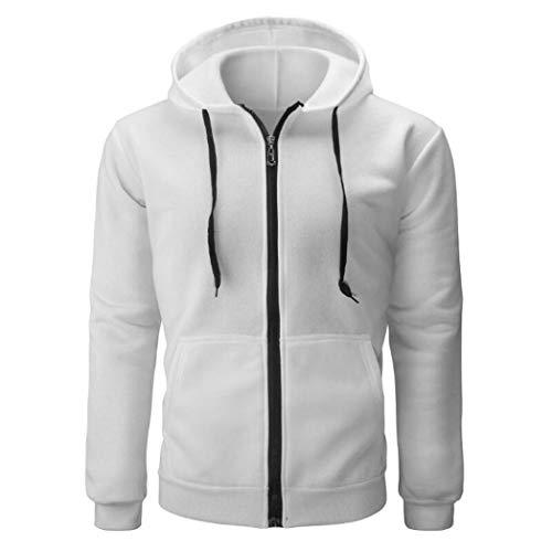 FORUU Men's Long Sleeve Solid Zipper Pullover Sweatshirt Top Tee Outwear Blouse (Cashmere Bathroom Tissue)