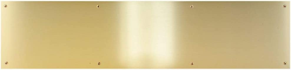 CPG Products Metal Door Kick Plate-Brass Tone 8x34-for 36 Door-Wood/&Metal Mounting-Door Protection-Door Plate-Curb Appeal-Commercial Grade-Interior//Exterior