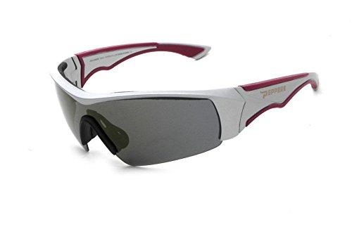 Pepper's Men's Mako Polarized Rimless Sunglasses, Matte Grey, 123 - Mako Eyewear