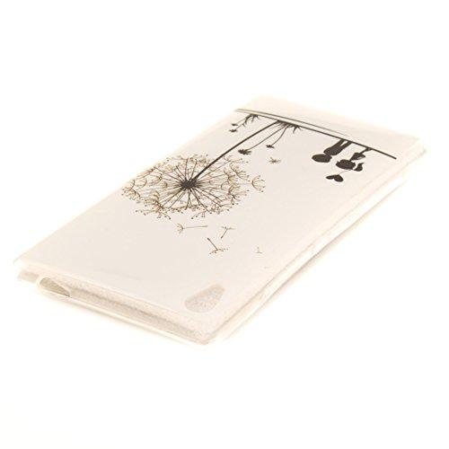 Slim C6 Antichoc Résistant Protection Hozor Couverture Ultra Fit Peint Téléphone De TPU Cas Transparent Scratch De Bord Souple Cas Xperia En Dandelion Arrière XA Silicone Motif Sony aIIU6g