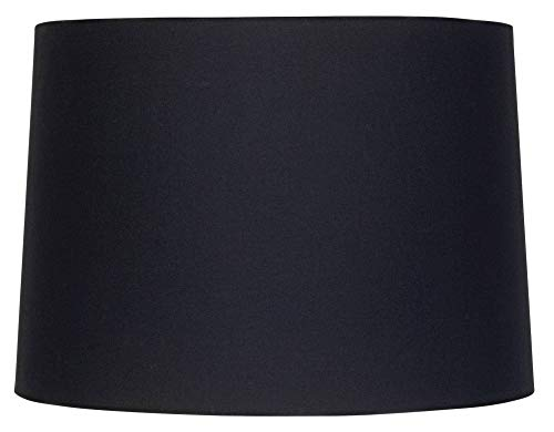 (Black Fabric Drum Shade 11x12x8.5 (Spider) - Brentwood )