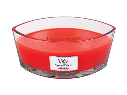 WoodWick Crimson Berries Hearthwick Ellipse Candle, 16 oz.