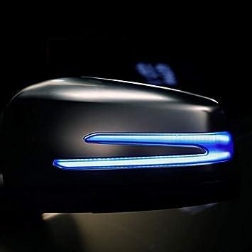 REFURBISHHOUSE Car Indicatore Specchietto Retrovisore con Indicatore di Direzione Dinamico dellAcqua per Mercedes C e S Cla Gla CLS Classe W176 W246 W204 W212 C117 X156
