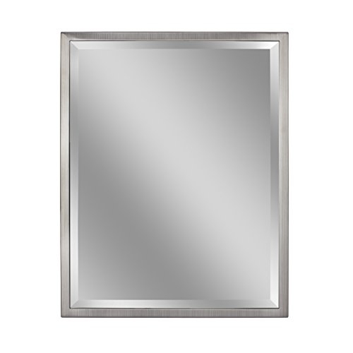 Head West 24 x 30 Classic Brush Nickel 1 in. Wide Metal Frame Wall Mirror,