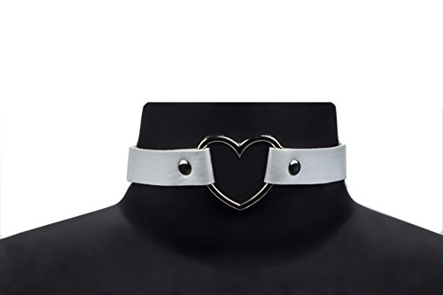 Zealmer Choker Leather Necklace Adjustable