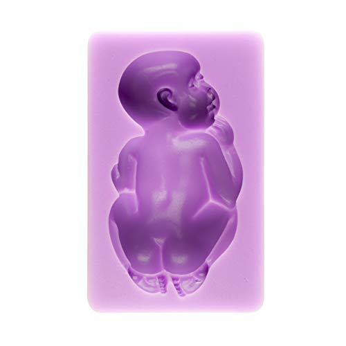 3d Baby Pacifier - Tasty Molds 3D Large Sleeping Baby Silicone Fondant Mold High Definition Quality Baby Shower Cake Topper DIY Decoration Birthday Party Tool for Sugarcraft, Chocolate, Candle, Soap Making and Crafting