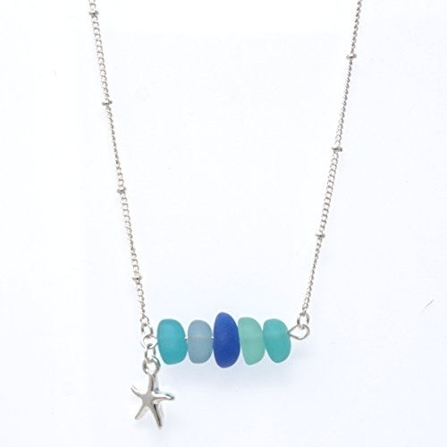 Necklace Starfish Glass (Elosee Sealife Seaglass Beads 18