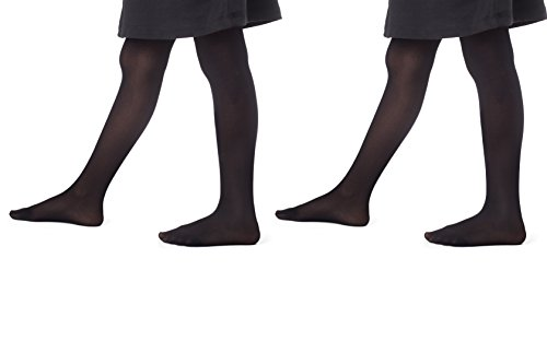Girl's Opaque Dance footed tights (2pack)| Ballet Leggings-Stretchy Stockings