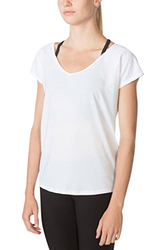 MPG Julianne Hough Women's Melody 2.0 Oversized Tee M Bright White