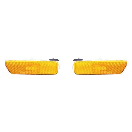 CarLights360: Fits 1999-2005 Volkswagen Jetta Side Marker Light Assembly Driver and Passenger Side - Replaces VW2550104 VW2551104 (Vehicle Trim: GEN4)