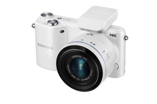 Samsung NX2000 20.3MP CMOS Smart WiFi Mirrorless Digital Camera with 20-50mm Lens and 3.7'' Touch Screen LCD (White) (Discontinued by Manufacturer) by Samsung (Image #2)
