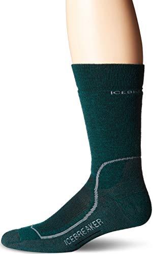 - Icebreaker Merino Men's Hike Medium Crew Hiking Socks, Small, Dark Pine/Monsoon/Twister Heather