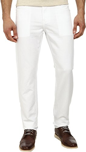 AG Adriano Goldschmied Mens Graduate Tailored Jeans In White
