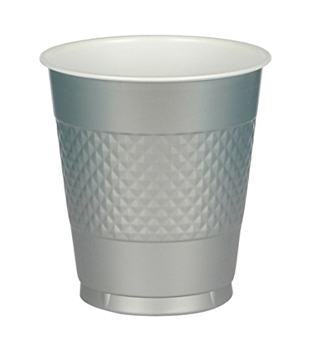 Silver, Big Party Pack, Plastic Cup 16 oz, 50 Per Pack