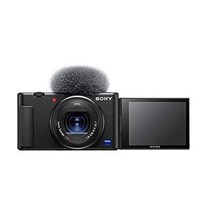 Sony Digital Vlog Camera ZV-1 Only (Compact, Video Eye AF, Flip Screen, in-Built Microphone, 4K Vlogging Camera and…