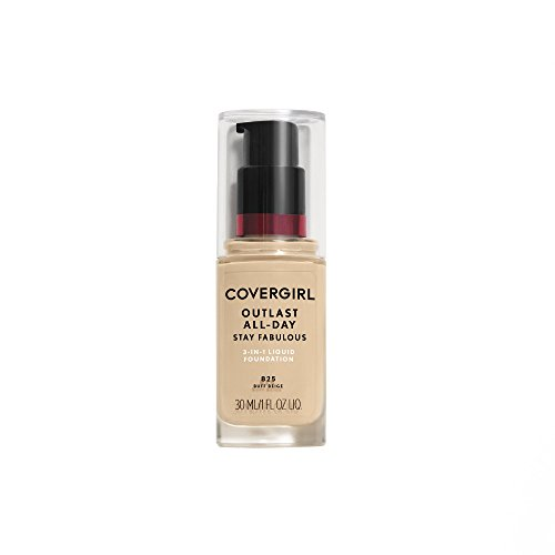 COVERGIRL Outlast All-Day Stay Fabulous 3-in-1 Foundation Buff Beige, 1 oz (packaging may vary)
