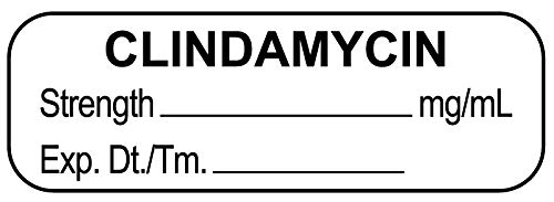 Anesthesia Label, Clindamycin mg/mL, 1-1/2