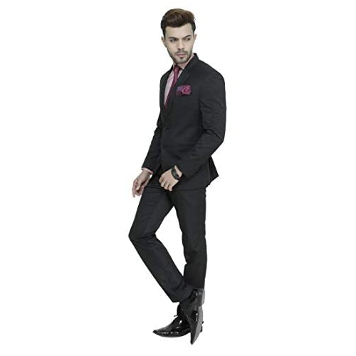 31vJwpz9%2BLL. SS500  - MANQ Men's Slim Fit Party/Formal Suit (Pack of 2)