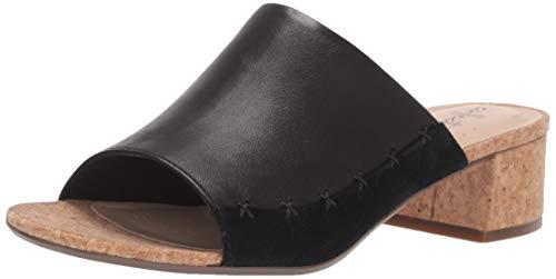 (CLARKS Women's Elisa Abby Heeled Sandal, Black Leather/Suede Combi, 100 M US)