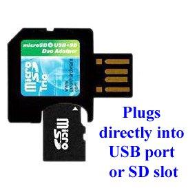 Peak 2 GB Transflash tarjeta de memoria con Micro SD a SD ...