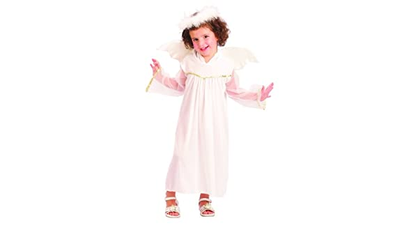 Disfraz de ángel blanco niña - De 1 a 2 años: Amazon.es: Juguetes ...