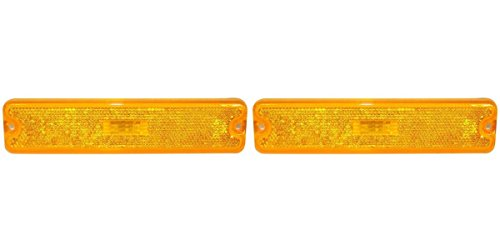 DAT 87-95 JEEP WRANGLER FRONT SIDE MARKER LIGHT ASSEMBLY SET OF TWO LEFT DRIVER AND RIGHT PASSENGER SIDE PAIR CH2550105 - Light Marker Side Rear 91