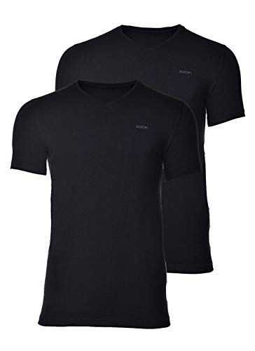 Joop! Herren Unterhemd 2er Pack - T-Shirt, V-Neck, Halbarm, Fine Cotton Stretch