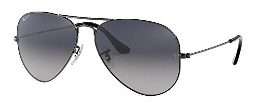Ray Ban RB3025 004/78 58M Gunmetal/Polarized Blue Gradient Gray Aviator