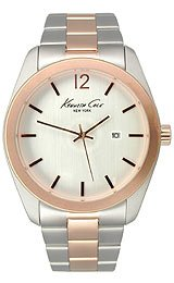 Kenneth Cole New York Mens Dress Silver Dial Two Tone Stainless Steel Bracelet Watch KC9094