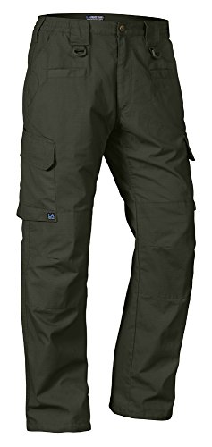 - LA Police Gear Men's Water Resistant Operator Tactical Pant with Elastic Waistband Green-42 x 30