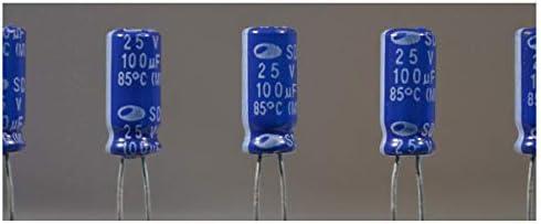 10 Stück Elko 100µf 25v Kondensator Elkos Elektrolytkondensatoren 100 Uf 25 V Elektronik