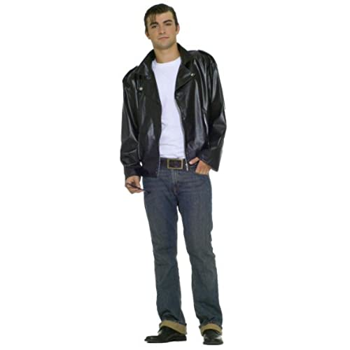 Forum Flirtin With The 50S Greaser Jacket Black One Size Costume  sc 1 st  Amazon.com & Danny Zuko Costume: Amazon.com