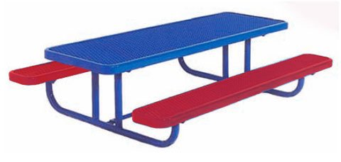 8 ft. Diamond Blue Commercial Park Preschool Portable Rectangular Table by ultraPLAY