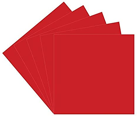 Rojo Oracal 651 vinilo, 5 hojas de vinilo adhesivo rojo brillante ...