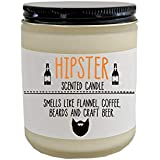Hipster Scented Candle Funny Gift Hipster Gift Bearded Gift for Boyfriend Funny Christmas Gift Birthday Gift Holiday Gift for Him
