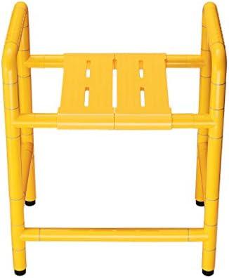 Bad Stuhl Duschhocker Behinderte Duschsitz , Rutschfester Multifunktions-Badehocker Aus Edelstahl Badstuhl Duschhocker für Ältere Menschen, Maximale Tragfähigkeit 400kg Badehilfen einstellbar