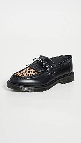 Dr Martens Hombre Cuero Adrian Ys Negro Zapato Mocasín Sin Cordones Con Borlas