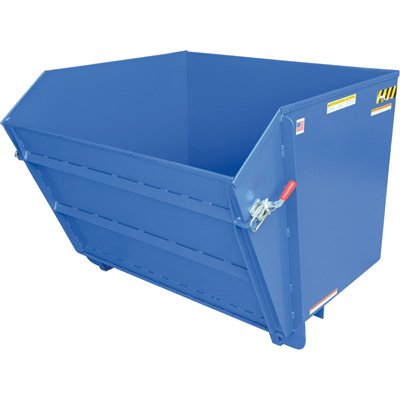 Vestil HDROP-150-LD Self-Dumping Hopper, 2000 lb Capacity, 1-1/2 cubic yard, Heavy Duty Steel, Blue - 1 1/2 Cubic Yard