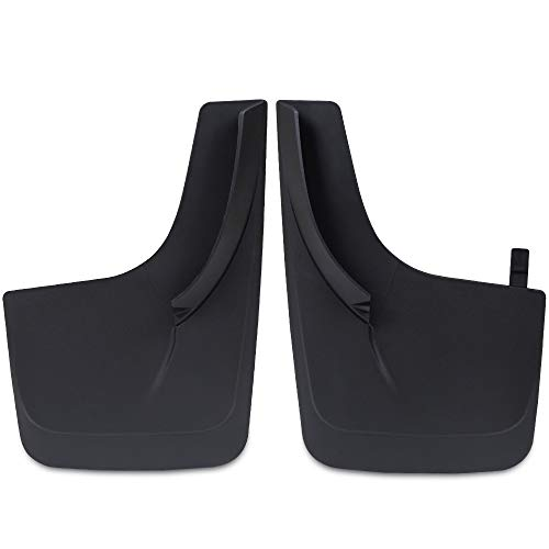 New 2pcs Car Mud Flaps Universal Fit Black Splash Guards Fender Mudguard with Hardware Front and Rear