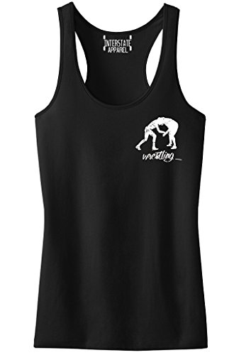 Junior's MMA Wrestling Emblem Black Racerback Tank Top T-Shirt X-Large Black by Interstate Apparel Inc